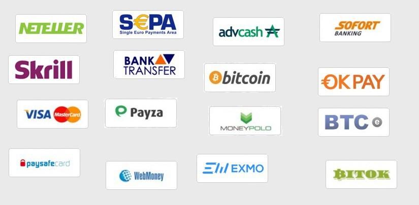 Summary of the deposit options