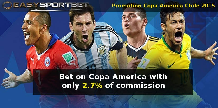 Bet on Copa America with only 2.7% of commission
