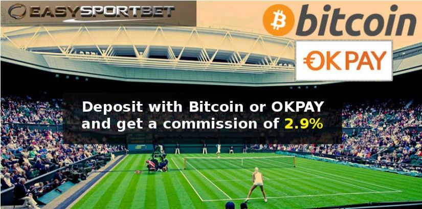 Promotion Bitcoin and Okpay : Only  2.9% of commission on which you bet