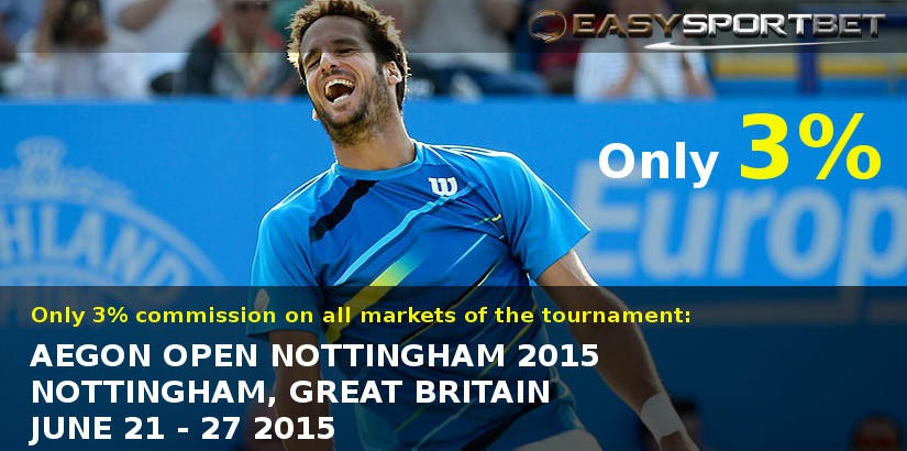 Bet on Aegon Nottingham Open with only 3.0% of commission