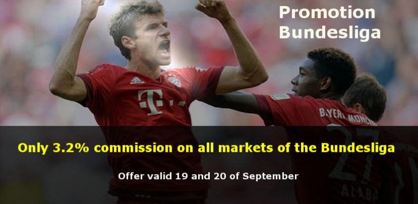 Bundesliga with only 3.2% of commission