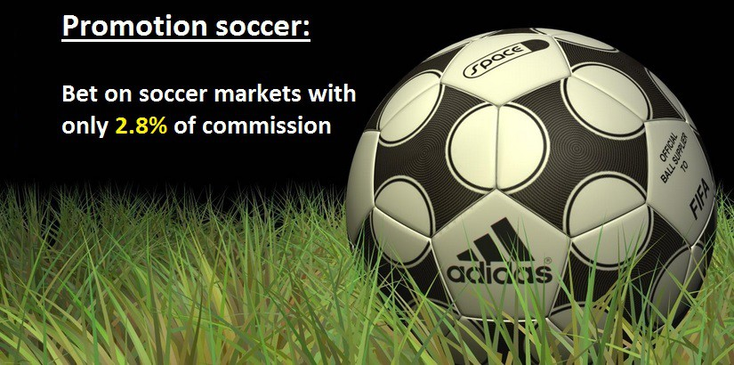 Bet on your favorites games of soccer with only 2.8% of commission